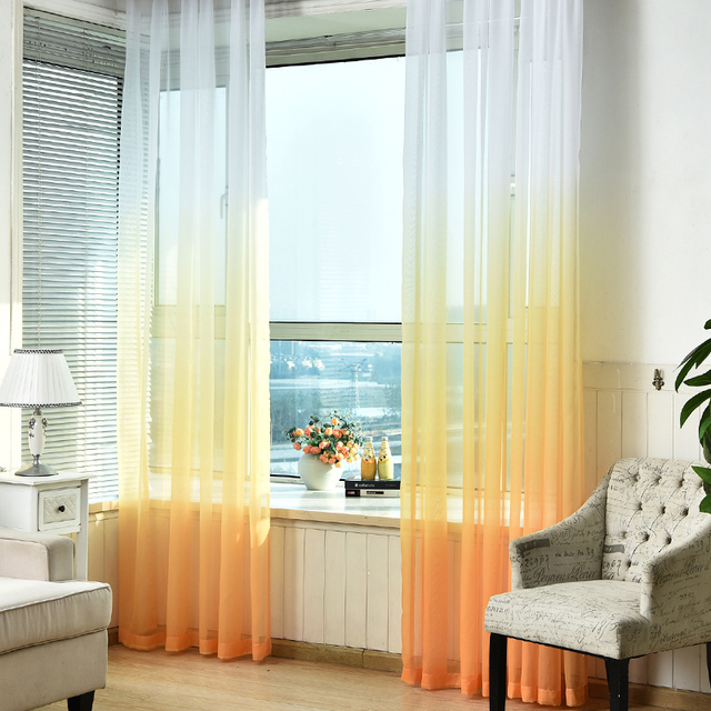 Tulle Curtains 3d Printed Kitchen Decorations Window ...