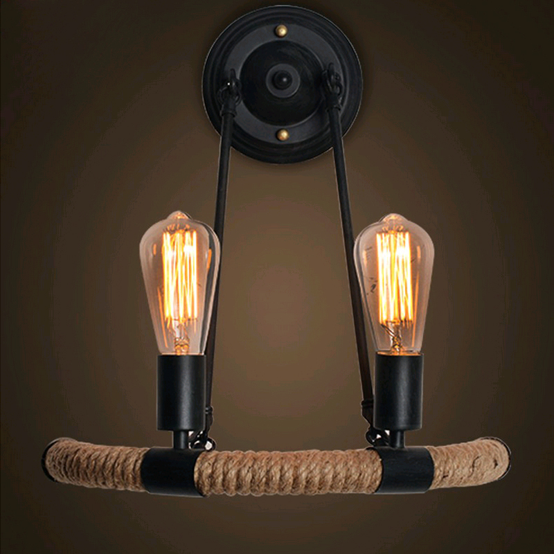 2017 American Vintage Wall Lamp for Indoor lighting,Retro Industry Wall Lights with LED Edison Bulb for Home,Black 110V/220V E27 american vintage wall lamp for indoor outdoor lighting retro industry wall lights with edison bulb for bedroom black 220v e27