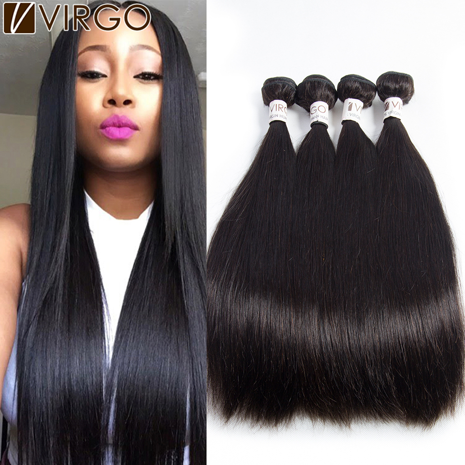 Peruvian Virgin Hair Silk Straight Human Hair Weave 3 Bundles 7a