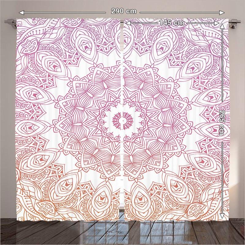 Curtains Zen Living Room Bedroom Mandala Boho Yoga Indian Patterns ...