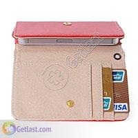 универсальный кожаный бумажник карты чехол чехол для галактики ы i9100 модель D С2 асе для iPhone 3 г 4 4S для HTC быстротой ощущение желание uni3-красный