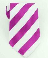 новый фиолетовый белой полосой шелк классицистический сплетенный галстук 901119-tie0021 бесплатная доставка