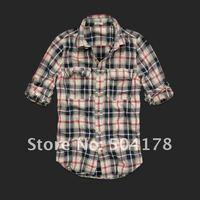 хор продажи женская рубашка 100% хлопка с длинным рукавом мода рубашки плед женская блузка, свободного покроя рубашка женщин рубашки новое поступление
