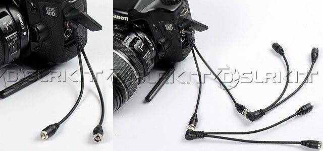DSLRKIT Flash PC Sync разделительный Шнур кабель 1 шт. штекер 2 шт. гнездо с винтовым замком