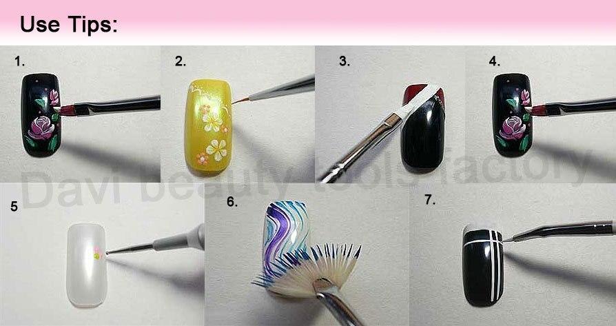 Акрил кисти 15 шт. professinal ногтей Кисти Набор Дизайн Живопись Pen, для природного/ложь и 3D Красота