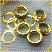 Диаметр отверстия 7 мм, Внешний диаметр 11.5 мм золотой цвет металла круглый глазок с washers 200 шт./лот, Одежды DIY аксессуары