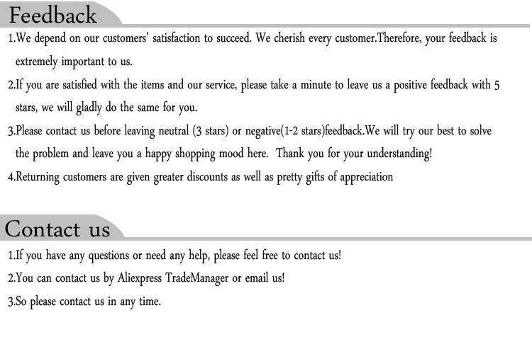 feedback & contact