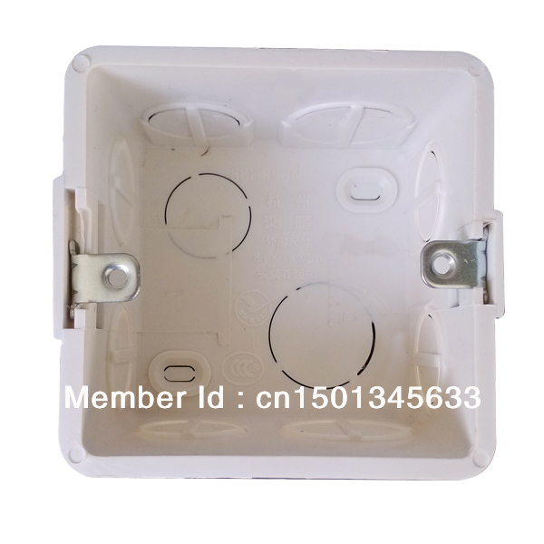 wholesale 10pcs/1lot single gang wall mount junction box, type 86 ...