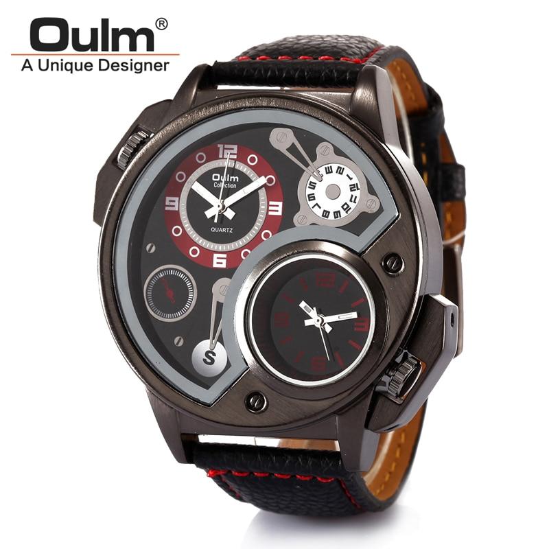 2016 Men Watch HP3578 Brand font b Oulm b font Quartz Watch Wristwatch Watch For Women