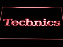 Technics LED Pro / Neon light Sign with On/Off Switch (7 Colors)