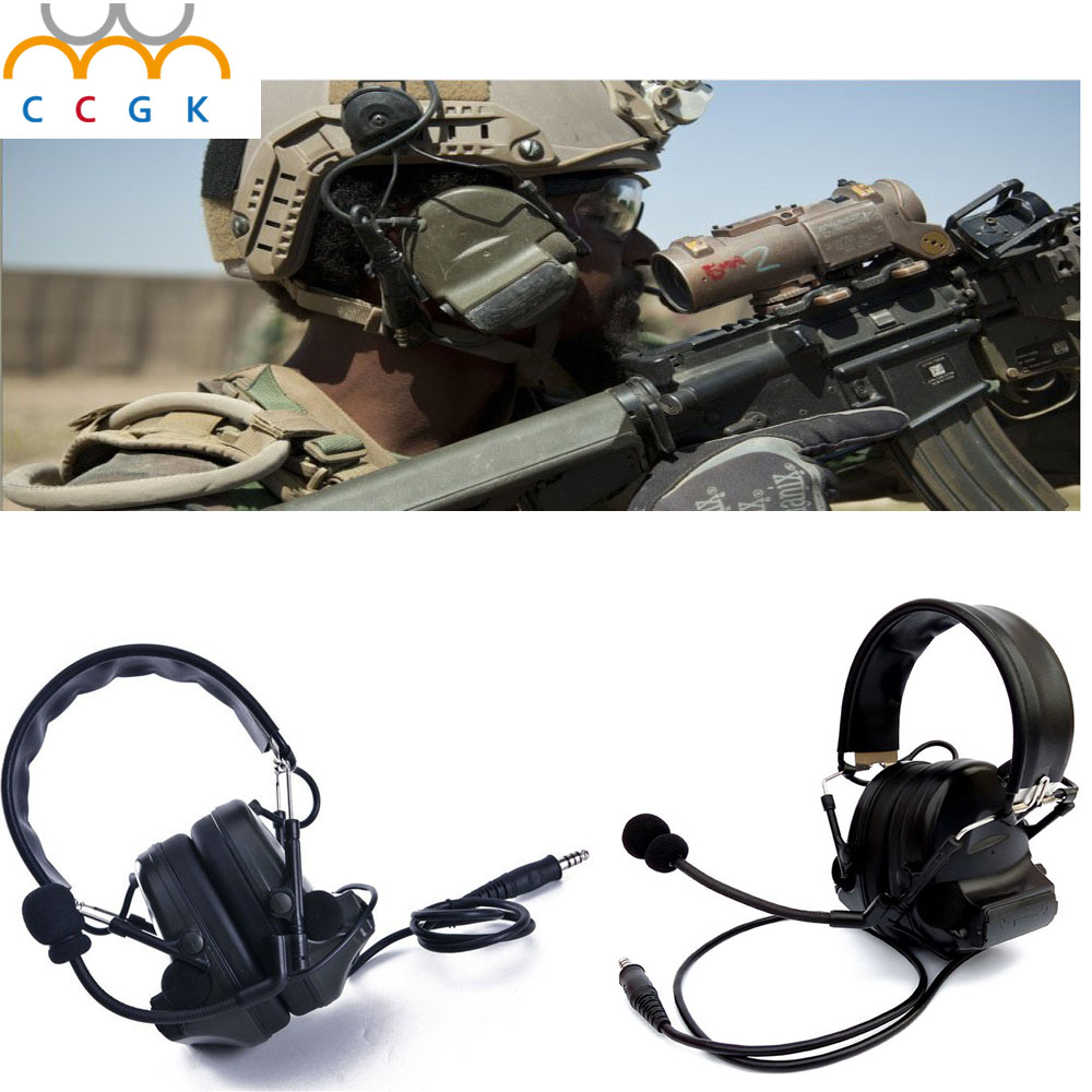 2017 Military army Tactical Headset IPSC Shooting Ear With Pickup Function Sport Hunting Electronic Hearing Protection Earmuffs