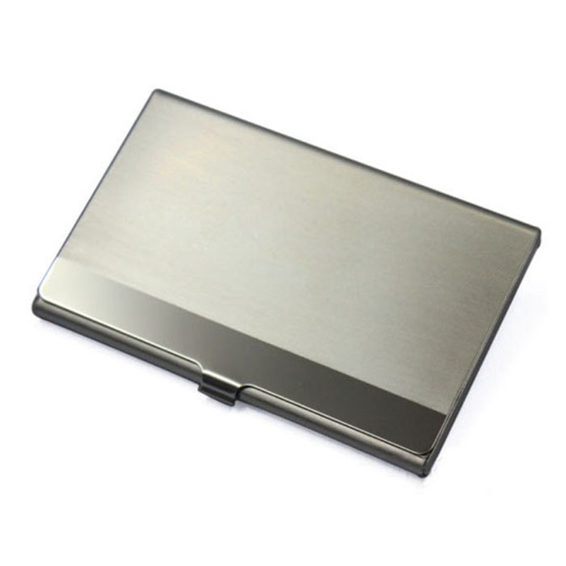 2017 Stainless Steel Business ID Credit Card Holder Men Mini ...