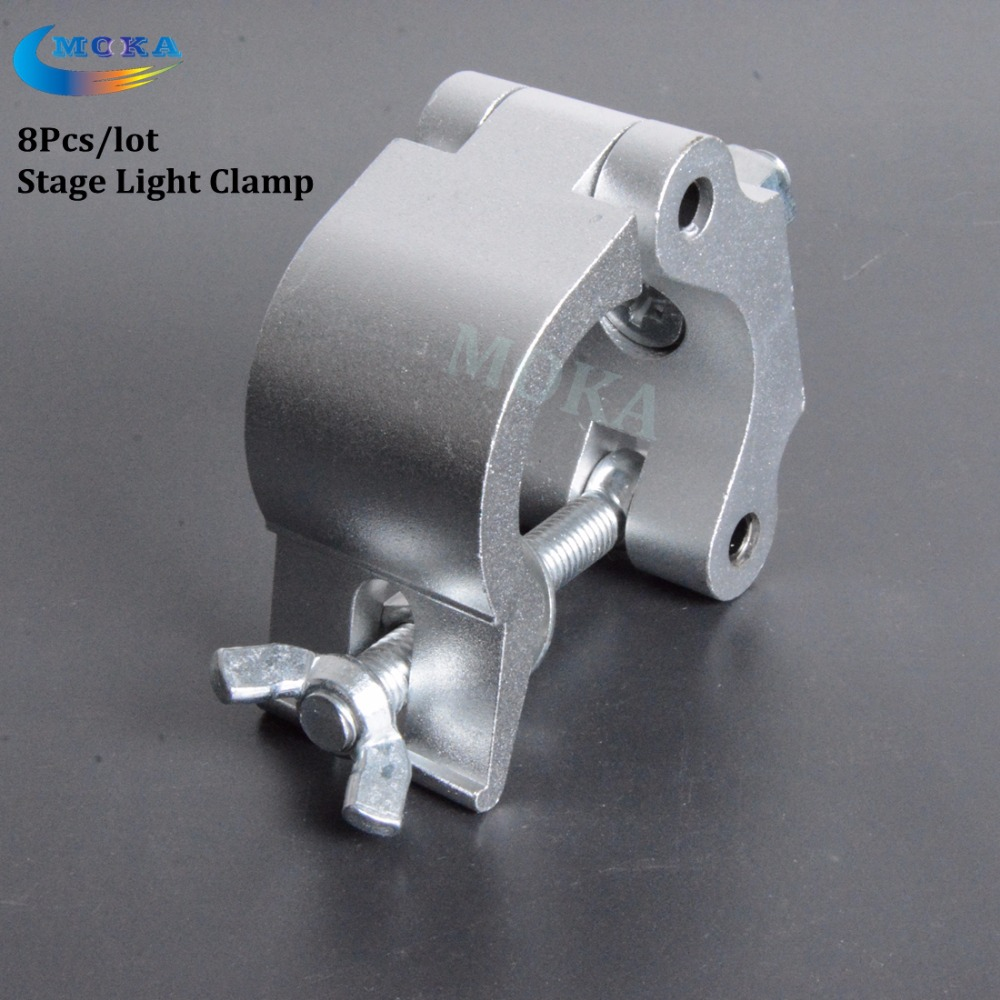 8Pcs/lot Aluminium material Light hook stage light turss clamp 200kg Load Capacity TUV approved clamp for <font><b>pipe</b></font> 42-52mm