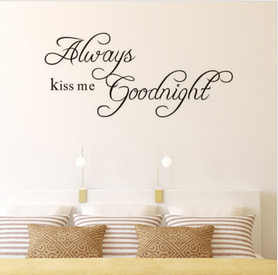 Φ_ΦKiss me buonanotte amore stickers murali preventivo decorazioni ...