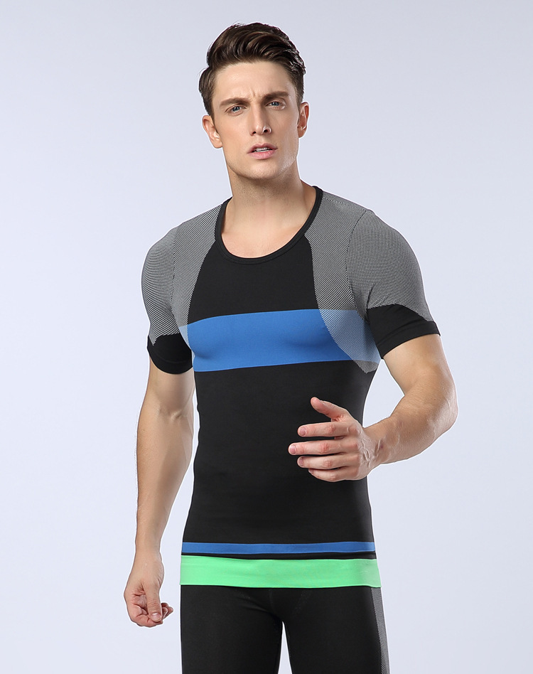 Hot Selling 4 Color Man's MODAL pure color seamless underwear clothing close-fitting undershirt
