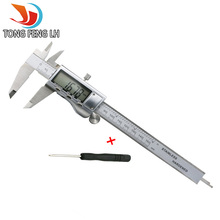 "New Tongfeng Lh 6 ""/ 0-150mm LCD Screen Smooth-gliding Durable Stainless Steel Digital Caliper Electronic Measuring Tool"