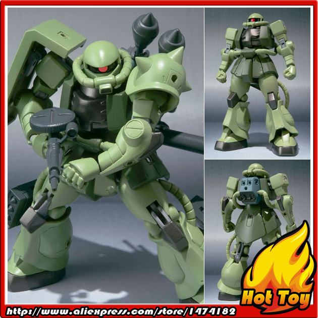 100% Original BANDAI Tamashii Nations Robot Spirits No.097 Action Figure - Zaku II from Gundam original bandai tamashii nations robot spirits exclusive action figure rick dom char s custom model ver a n i m e gundam