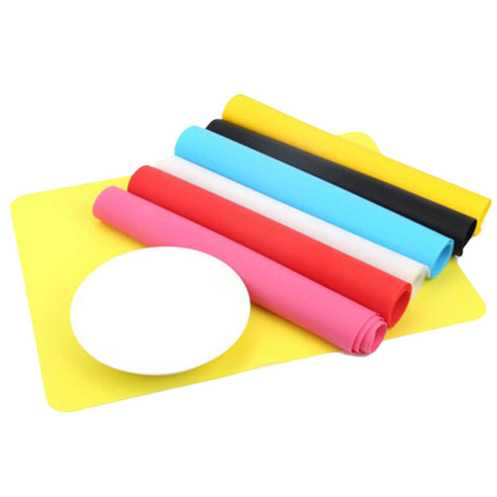 1Pc Silicone Mats Baking Liner Best Silicone Oven Heat Insulation Pad Bakeware Non-stick Thick Pad Kid Table Mat