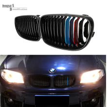 E81 E87 E82 E88 replacement carbon fiber black front racing grill grille for BMW 1 series vehicle 2008 – 2011 116i 135i