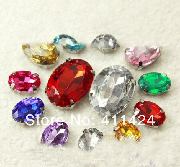 200 шт/партия 13*18 мм Кристалл Стразы смешанные цвета точечное стекло горный хрусталь Необычные драгоценные камни для украшения