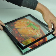 Светодиодный ресторане списка меню оправе ультратонкий Магнитный Алюминий рекламы A4 световой короб