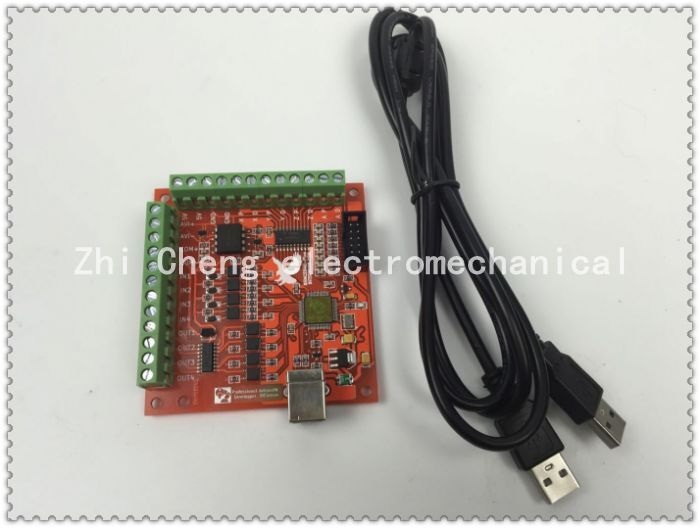 Free shipping CNC MACH3 USB 4 Axis 100KHz USBCNC Smooth Stepper Motion Controller card breakout board for CNC Engraving 12-24V free shipping cnc mach3 usb 4 axis 100khz usbcnc smooth stepper motion controller card breakout board for cnc engraving 12 24v