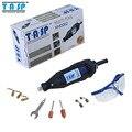 Tasp 220 v 130 w estilo de herramienta rotativa dremel mini taladro eléctrico de velocidad variable con gafas de seguridad y accesorios