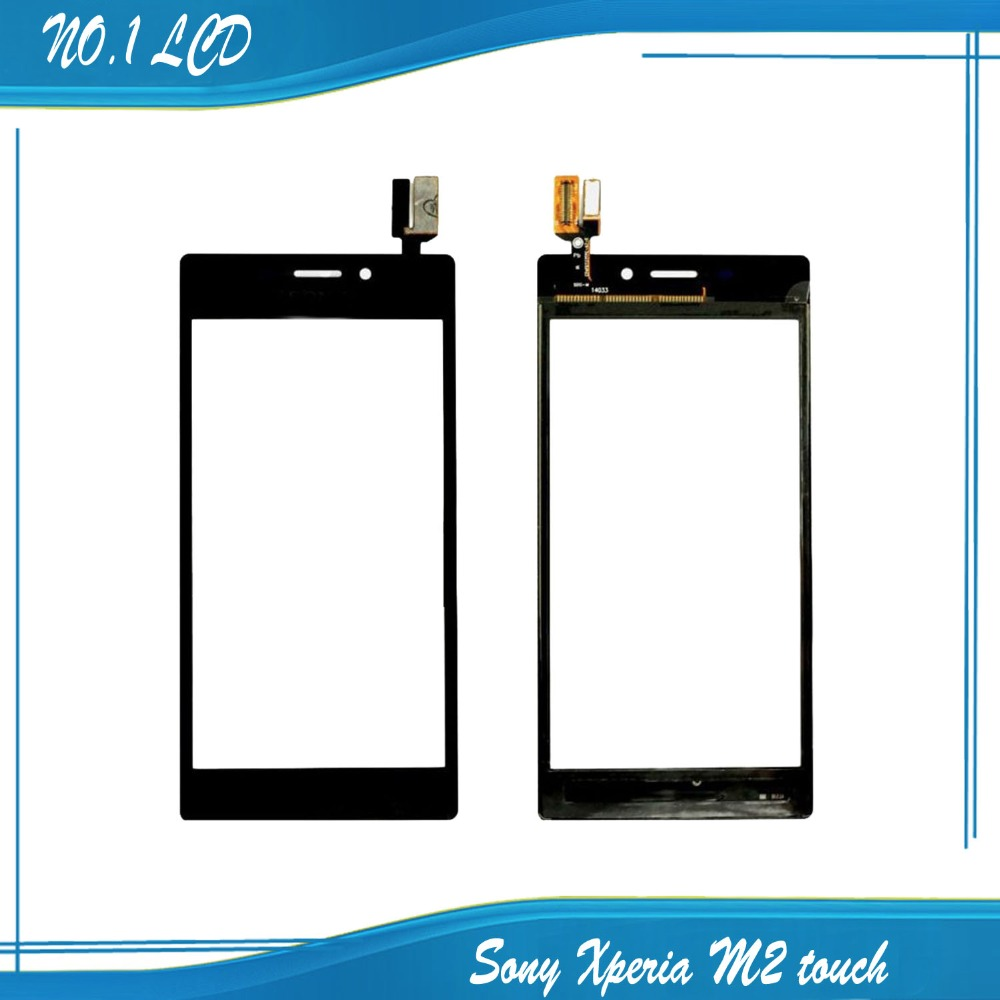 Original Touch Screen For Black Sony Xperia M2 D2302 D2303 D2305 S50h sensor digitizer Replacement