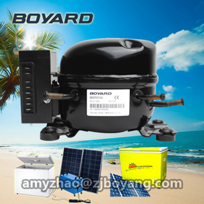 solar electric refrigerator freezer with BOYARD R134a 12v dc freezer compressor