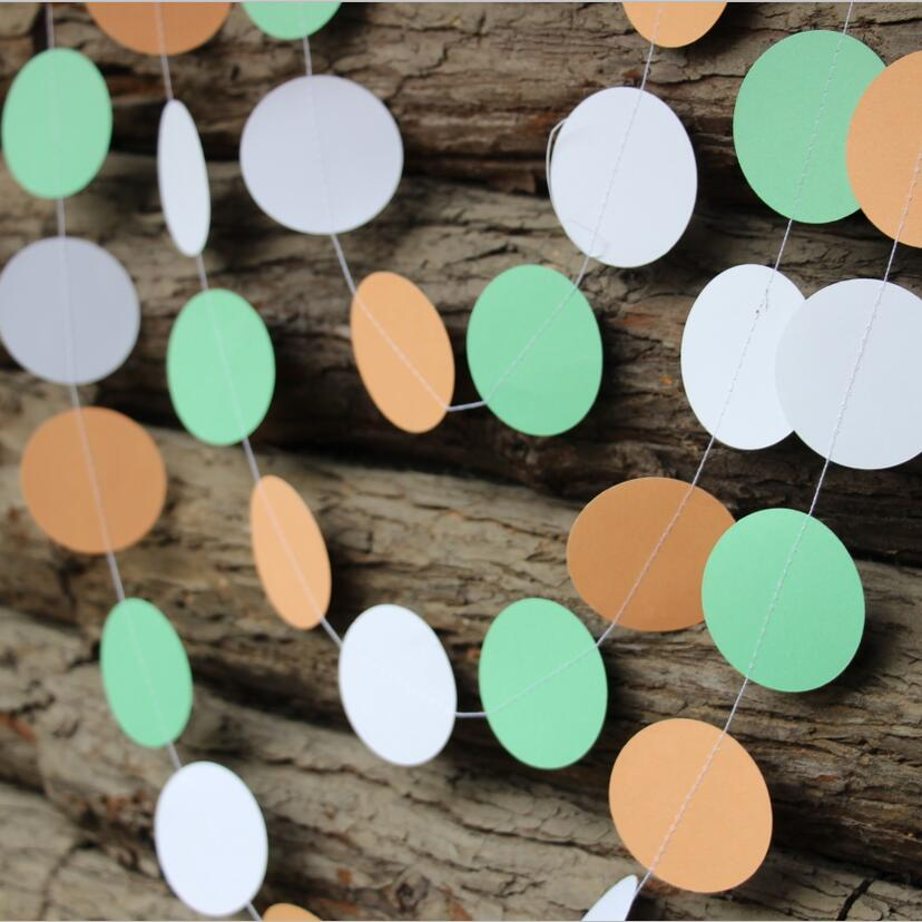 5pcs Mint Orange White Spring Light Color Festival Party Decoration Paper  Garland In Party Backdrops From Home U0026 Garden On Aliexpress.com | Alibaba  Group