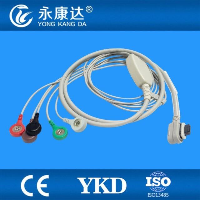 цена на GE SEER Light 2008594-004 5lead holter ecg cable, snap,AHA