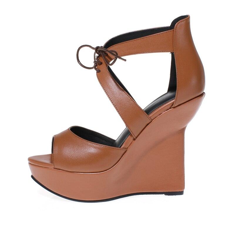 ФОТО New Fashion Women Sandals Platform Strange Style Heels Sandals Nice Silver Brown Black Shoes Woman US Size 4-8.5