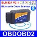 Лучшее Качество ELM327 V2.1 Bluetooth OBD2 OBDII ELM 327 Беспроводной Диагностический Инструмент Поддержки 7 Видов Автомобилей OBD Протоколы Android Ос Windows