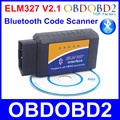 Best Quality ELM327 V2.1 Bluetooth OBD2 OBDII ELM 327 Wireless Diagnostic Tool Support 7 Kinds Car OBD Protocols Android Windows