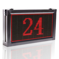 Red store USB Programmable LED Scrolling Sign the Message Board, Display 20.4 X 11 Inches Open Neon Sign