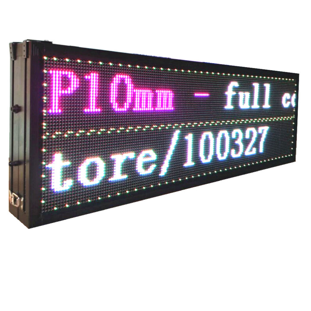P10 Double sided Full Color RGB LED Sign outdoor scroll LED display information 32*96 pixel led message sign board running text