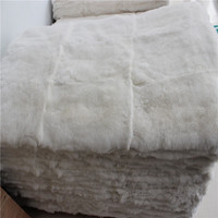 100% Real Rex Rabbit Plate / Rex Rabbit Fur Skin Plate For Clothes