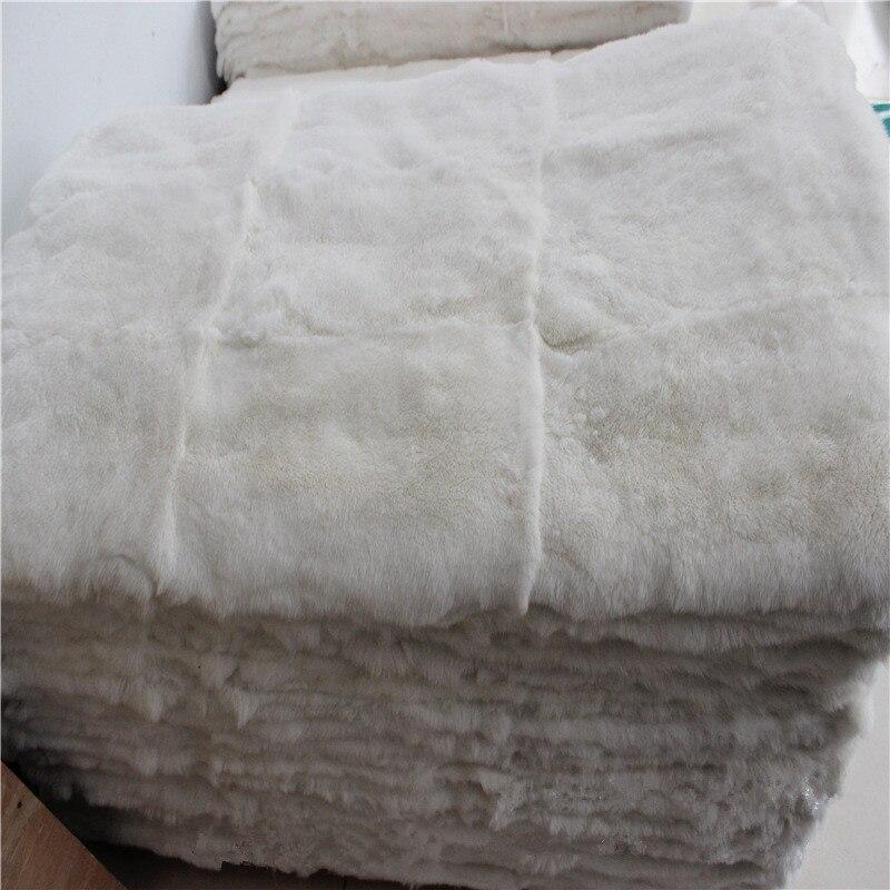 100% vraie plaque de lapin Rex/Rex plaque de peau de fourrure de lapin pour vêtements