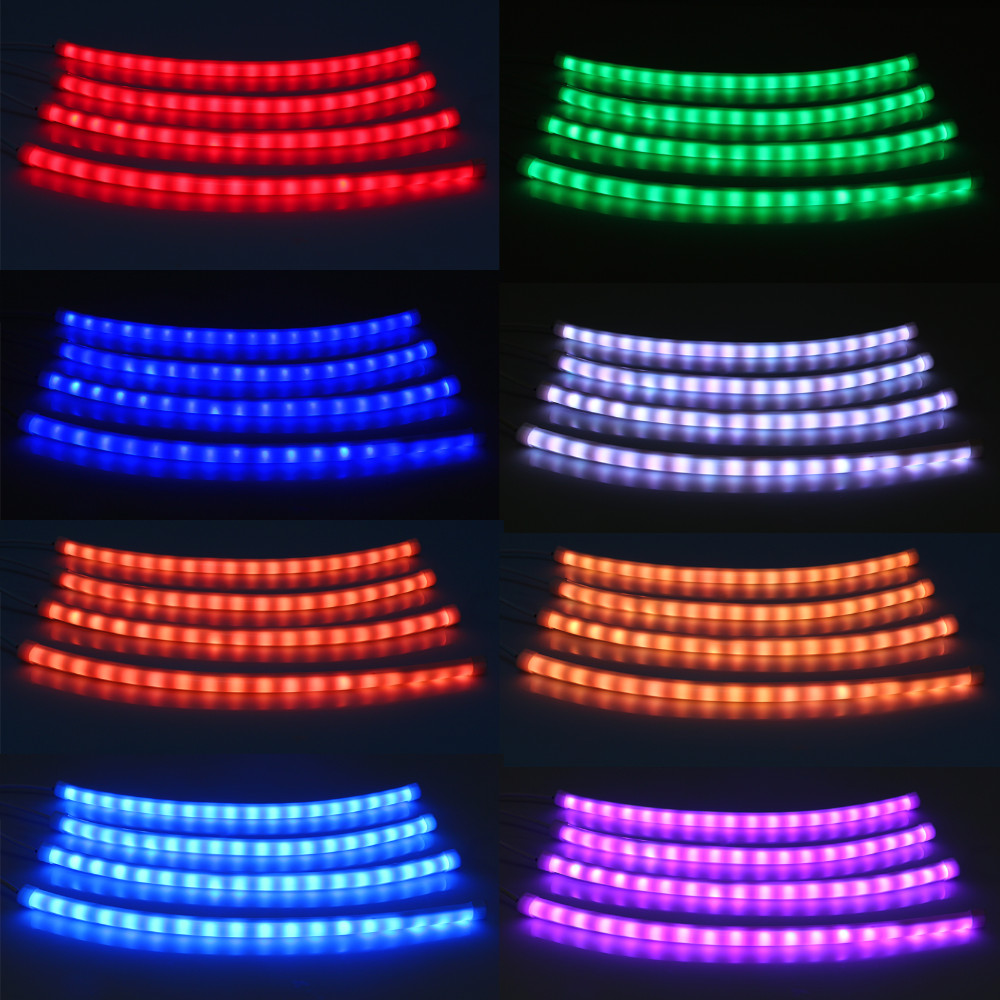 LED Flexible Strip Tape Light  Music Remote Controller/LED Car Interior Light Decorative Atmosphere Lights Car Styling Lamp