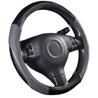 High Quality Pvc Leather Hand Stitched Car Steering Wheel Cover Breathable And Anti Slip Fit For