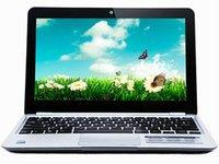 новый самый дешевый продвижение 11 дюймов нетбука для Intel n455 ноутбук, портативный компьютер с cpu1.66ghz 2 г / 160 г жесткий диск серебро / красный