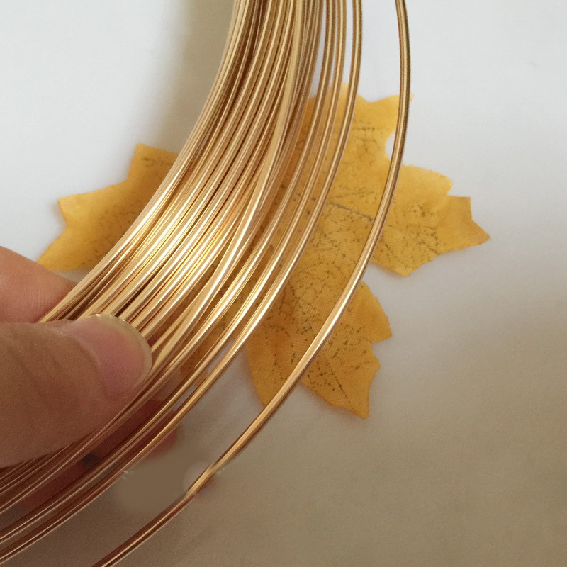 1 Meter Light Yellow Gold Color 2.06 mm Wire Round  Jewelry Wire DIY Material Accessories1 Meter Light Yellow Gold Color 2.06 mm Wire Round  Jewelry Wire DIY Material Accessories