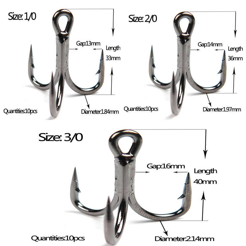 20pcs//lot Anchor Treble Hook Sea Fishing Hook  High Carbon Steel Triple Hooks