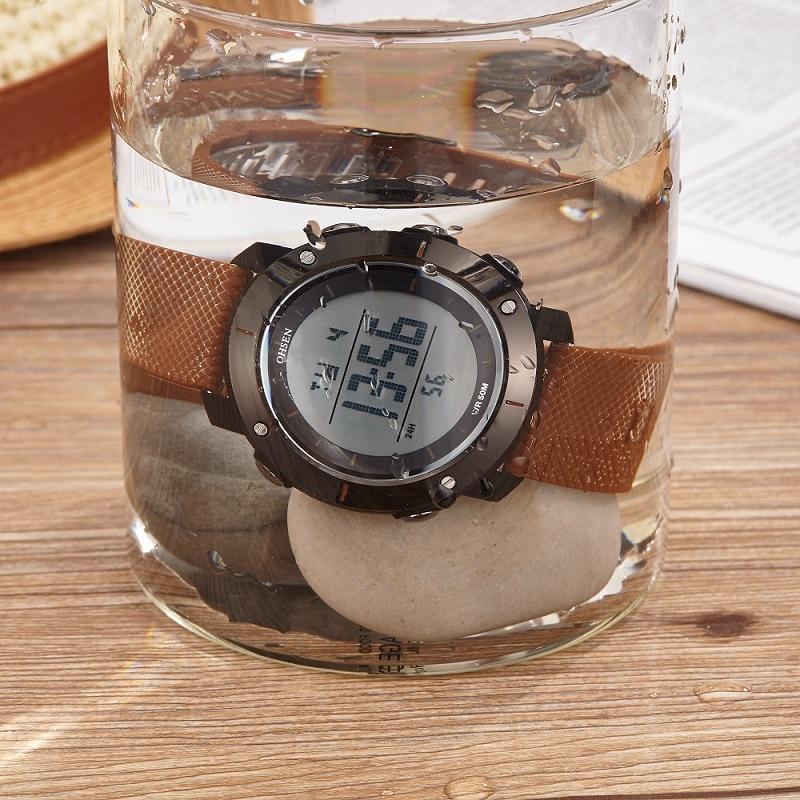 Ohsen Unisex Fecha de Alarma Simple Multi-color Hombres Reloj Digital - Relojes para hombres - foto 6