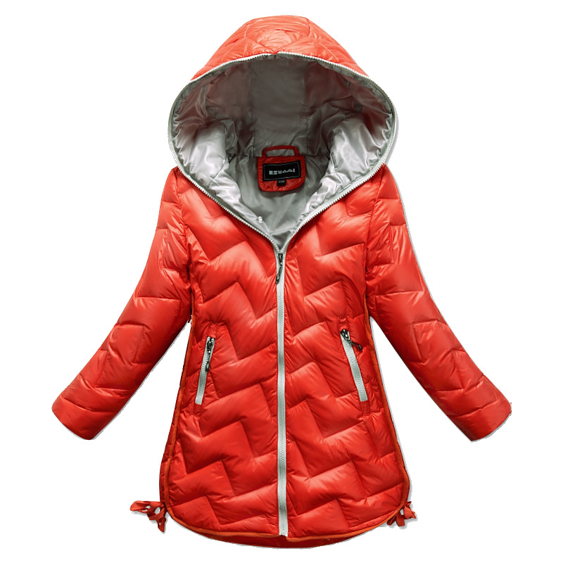 children girls down jacket coat fashion hooded thick solid warm coat girls winter clothing outwear