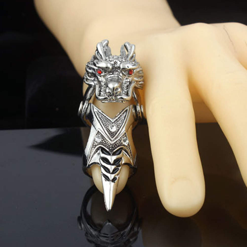 ≧dragon ring Vintage Men jewelry Cone joint Chinese Domineering ...