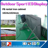 TEEHO P8 outdoor waterproof iron led display screen 1024x1024mm forbasketball sports games adverstising board rental led display