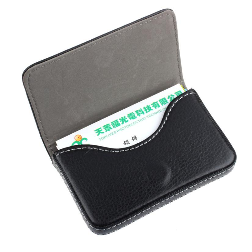 Business Card Holder Cards Women PU Leather Wallet Exquisite ...