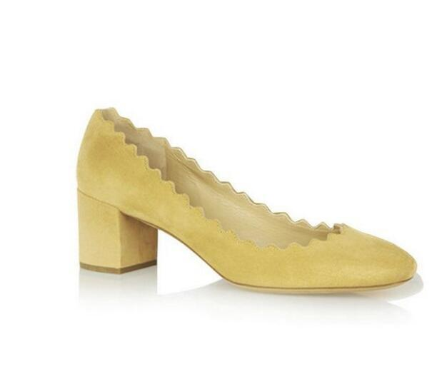 Здесь можно купить  Chic Low Heel Pumps Womens Shoes Round Toe Pumps Suede Block Heels Size 4-15 Ladies Shoes Pumps Woman Shoes Summer  Обувь