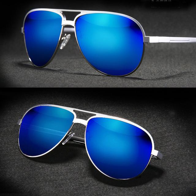 = = VIDA Custom Made MÍOPES MENOS CLARA PRESCRIÇÃO polarizada óculos de sol dos homens Lente Espelho Colorido de Titânio de magnésio-1 a-6
